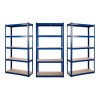 3 x Powder Coated Garage Shelving Unit (175KG) - Boltless