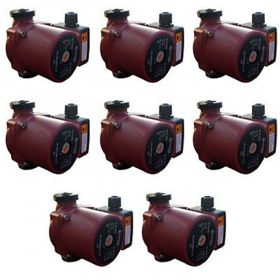 8 x Central Heating Circulating / Circulator Pumps - Replaces Grundfos 15-50 / Myson / DAB (Plumbers Pack)