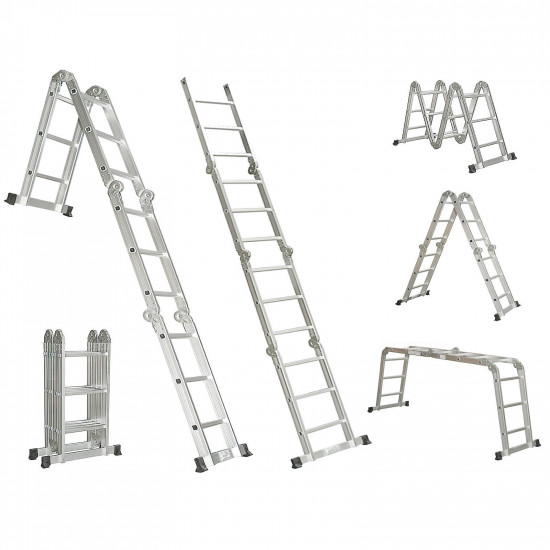 4.7M ALUMINIUM MULTI PURPOSE EXTENSION LADDER / STEP / SCAFFOLDING