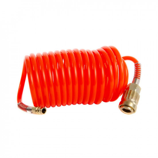 """5 Meters Of Spiral Hose With 1/4"""" Euro Connectors"""