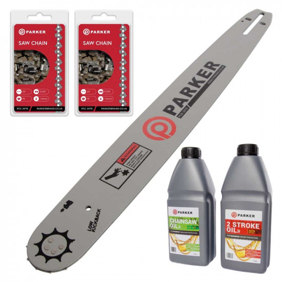 "20"" Bundle Pack - Bar and 2 x Saw Chain + Oils"