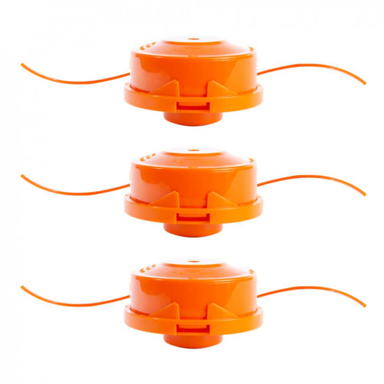 Replacement Bump Feed Grass Trimming Spool 3 Pack