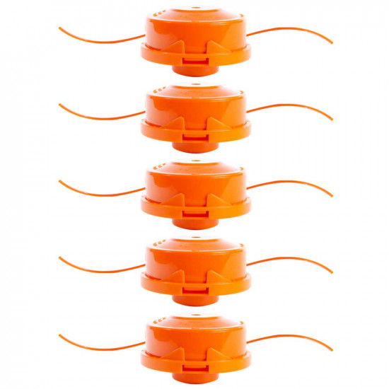 Replacement Bump Feed Grass Trimming Spool 5 Pack