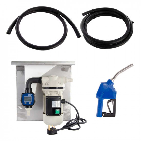 230V Wall Mounted AdBlue Fuel Pump Kit - With Automatic Nozzle