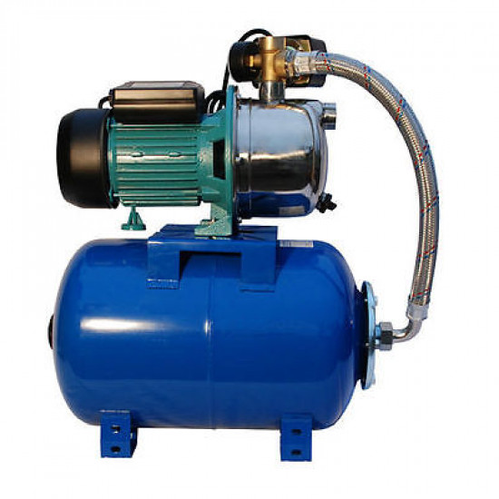 Water Booster Pump - 3,000 L/H - 24L Pressure Vessel - 50M Head