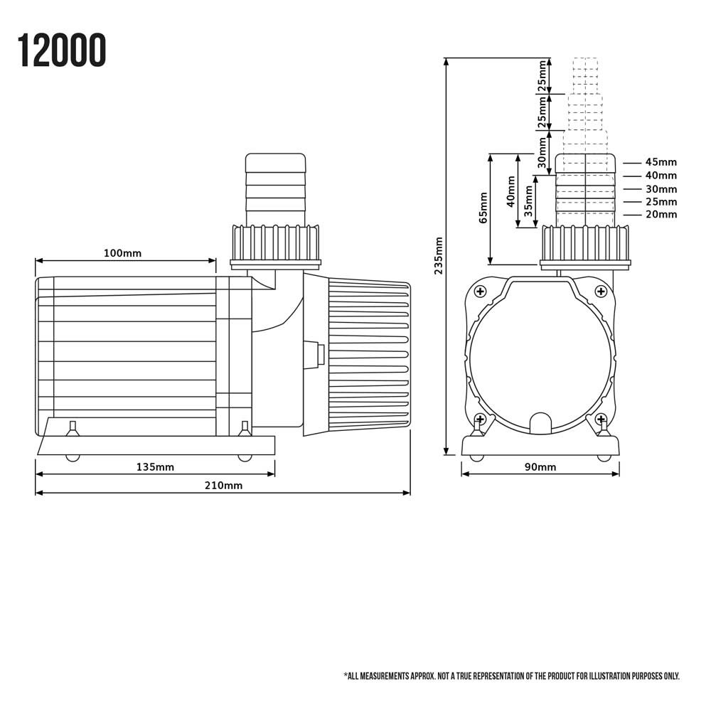 Submersible aquarium fish tank sump pump with speed controller jpg  1000x1000 Sump pump drawing