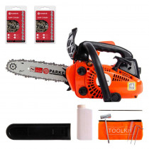 "26cc 10"" Petrol Top Handle Topping Chainsaw - Free Bar Cover & More"