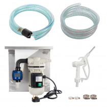 230V Wall Mounted AdBlue Fuel Pump Kit - With Manual Nozzle