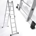 3.5M / 11.5FT ALUMINIUM MULTI PURPOSE EXTENSION LADDER / STEP / SCAFFOLDING WITH PLATFORMS