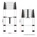 Telescopic 3.2M Aluminium DIY Foldable Extendable Builders Multi Purpose Ladder