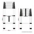 Telescopic 4.4M Aluminium DIY Foldable Extendable Builders Multi Purpose Ladder