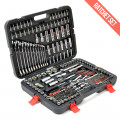 215 Piece Professional Socket Set & Ratchet Spanners + Torque Wrench