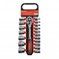 "19 Piece Socket Set - 1/2"" CRV"