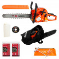 "58cc 18"" Petrol Chainsaw + 2 x Chains + More"