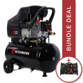 24 Litre Air Compressor - 9.6 CFM & Tool Kit Package