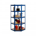 Powder Coated Garage Corner Shelving Unit (175KG) - Boltless