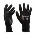 Black Nylon / Nitrile Coated Safety Work Gloves