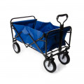 Heavy Duty Foldable Garden Trolley Cart Wagon - Blue