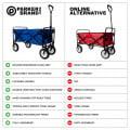 Heavy Duty Foldable Garden Trolley Cart Wagon - Blue Digital Camouflage