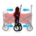 Heavy Duty Foldable Garden Trolley Cart Wagon - Pink