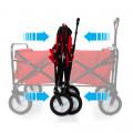 Heavy Duty Foldable Garden Trolley Cart Wagon - Grey Digital Camouflage