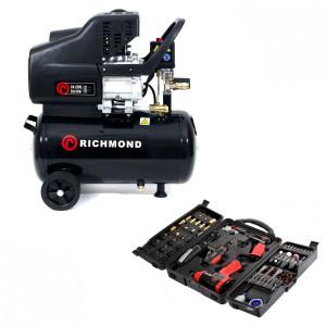 24 Litre Air Compressor - 9.6 CFM & Tool Kit Package