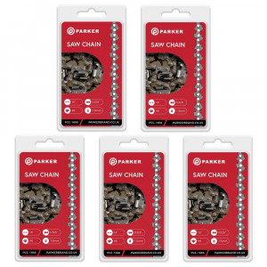 """5 Pack of 16"""" Chainsaw Chains - 66 Link"""