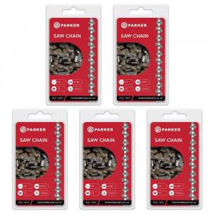 """5 Pack of 18"""" Chainsaw Chains - 72 Link"""