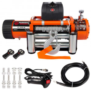 12V Electric Winch - Heavy Duty - 13,500lbs