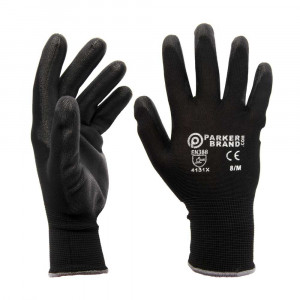 Black Nylon / Nitrile Coated Safety Work Gloves