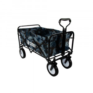 Heavy Duty Foldable Garden Trolley Cart Wagon - Blue Digital Camouflage