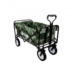 Heavy Duty Foldable Garden Trolley Cart Wagon - Green Digital Camouflage