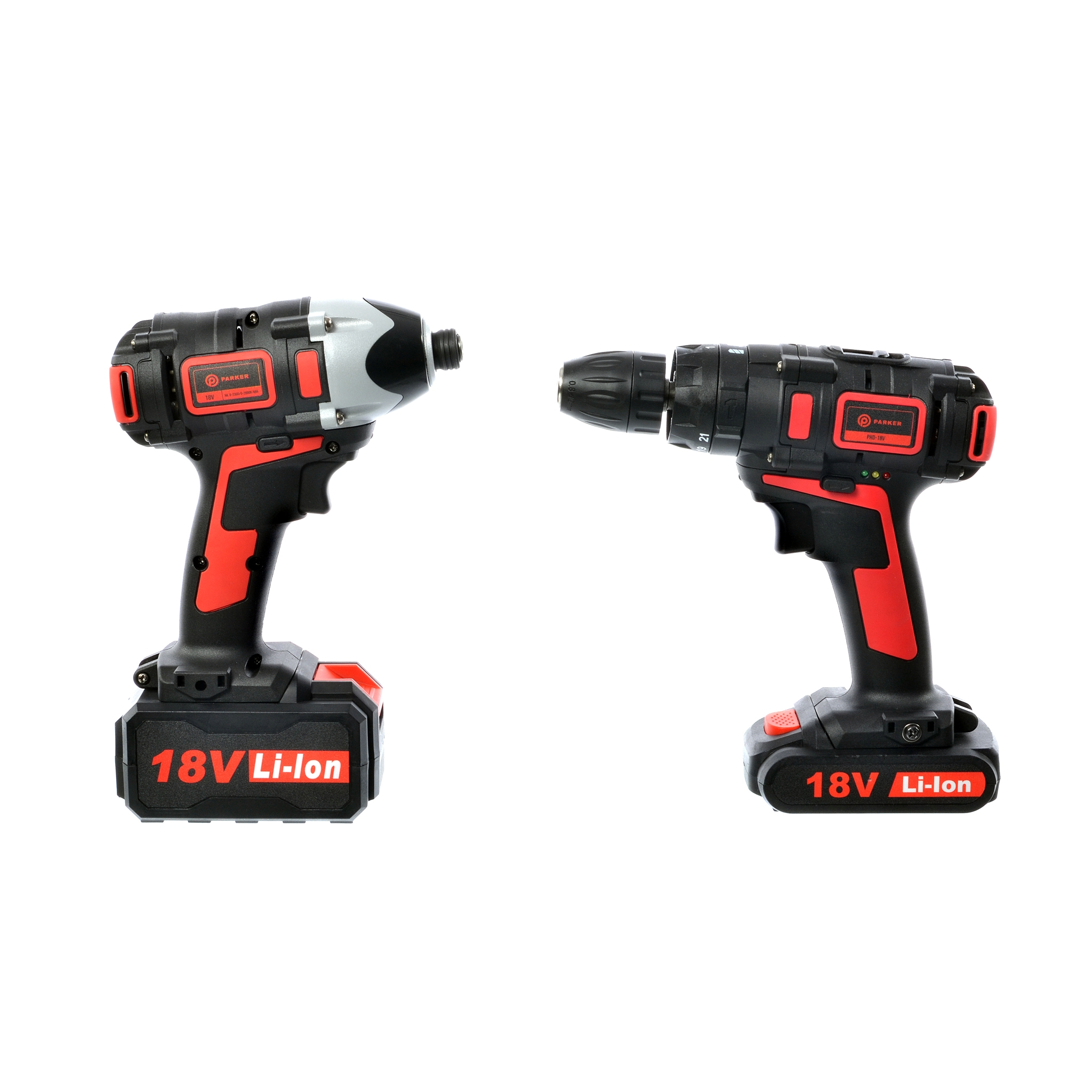 cordless hammer drill impact driver set 18v 3 0ah li. Black Bedroom Furniture Sets. Home Design Ideas