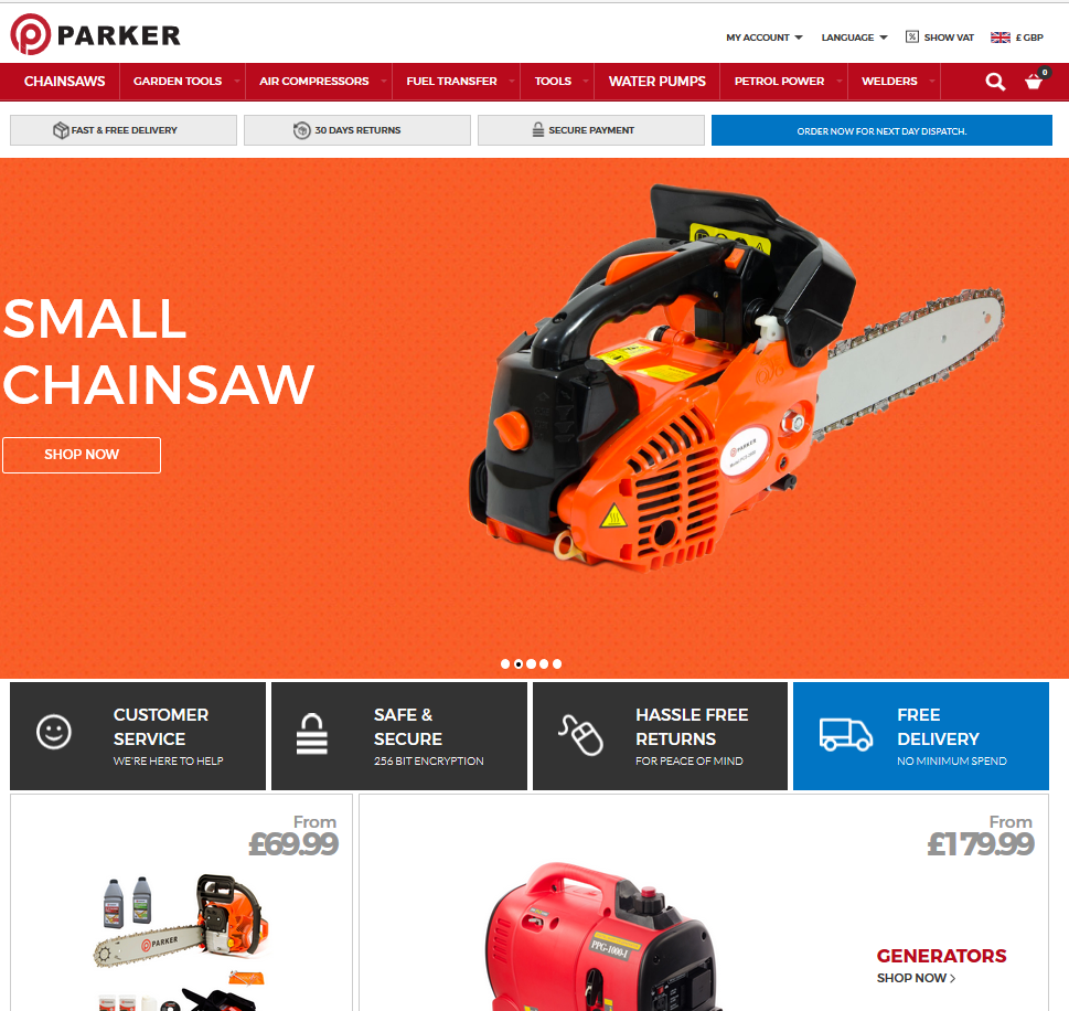 Shopping with Parker Brand has just got easier